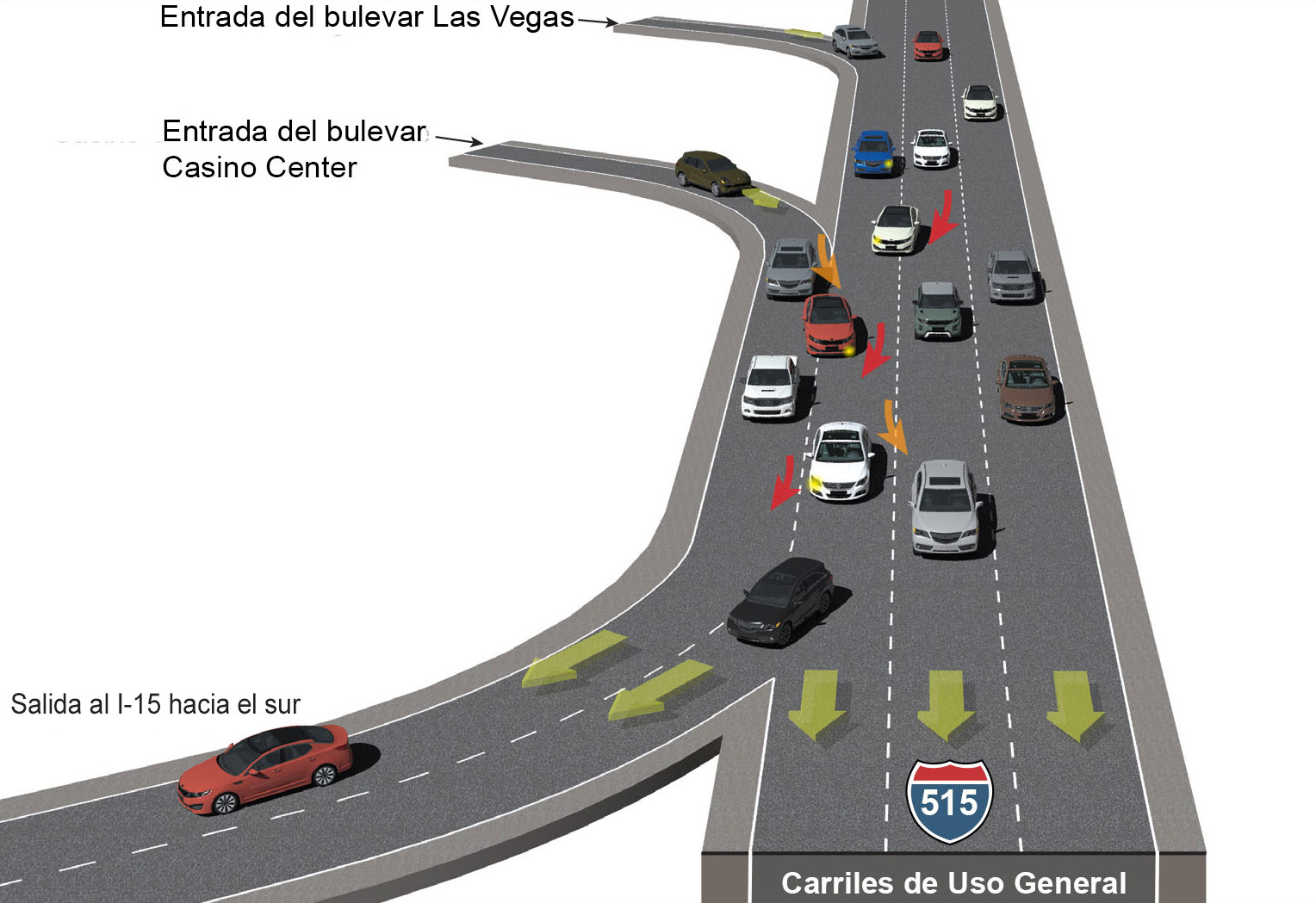 Illustration of the danger of closely spaced interchanges.