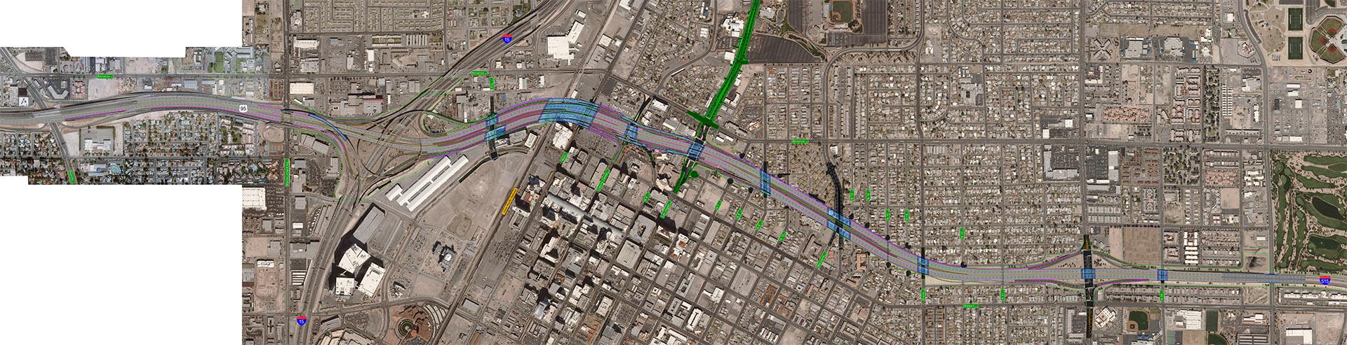 Aerial map of design for alternative 2