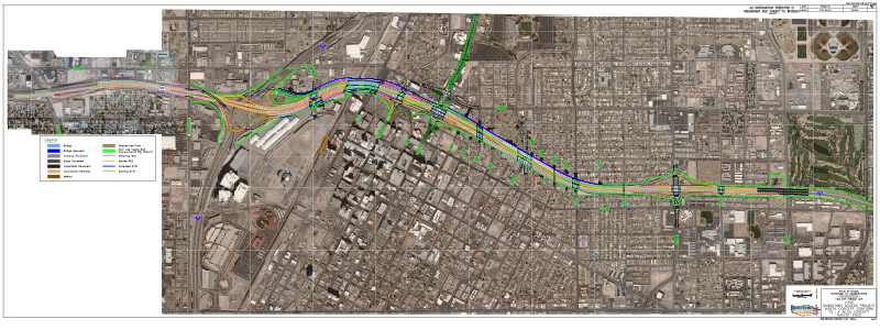 Map of Alternative 3: Replace Bridge Structures – Northern Alignment